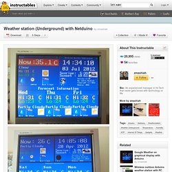 Weather station (Underground) with Netduino
