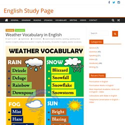 Weather Vocabulary in English – English Study Page