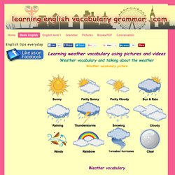Weather vocabulary PDF learning English basics - Learning English vocabulary and grammar