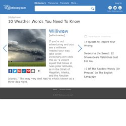 10 Weather Words You Need To Know by Dictionary.com