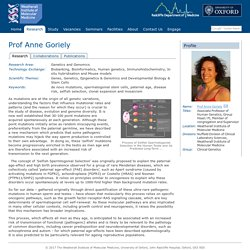 Prof Anne Goriely - Weatherall Institute of Molecular Medicine