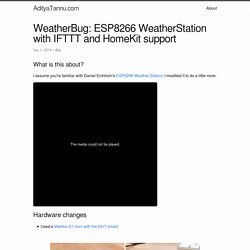 WeatherBug: ESP8266 WeatherStation with IFTTT and HomeKit support