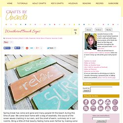 Weathered Beach Signs | Crafts by Amanda