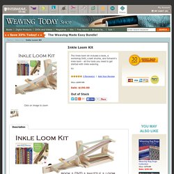Inkle Weaving Kit with book, DVD, belt shuttle, and inkle loom