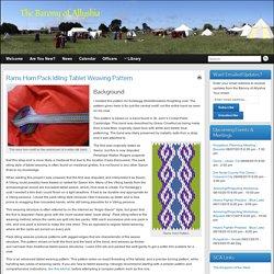 Rams Horn Pack Idling Tablet Weaving Pattern » The Barony of Allyshia