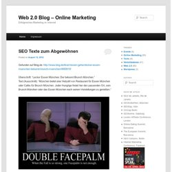 Web 2.0 Blog - Online Marketing im Web 2.0