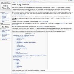 Web 2.0 y filosofía - Didáctica de la Filosofía
