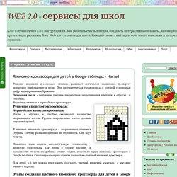 WEB 2.0 - сервисы для школ: Японские кроссворды для детей в Google таблицах - Часть1