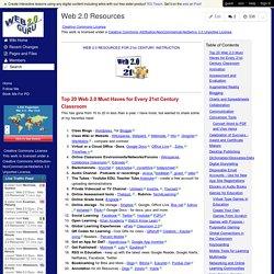 Web 2.0 Guru - Web 2.0 Resources