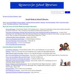 Web 2.0 in School Libraries
