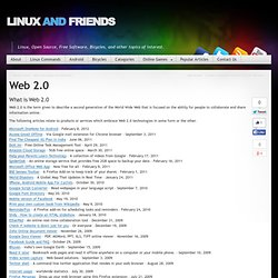 Web 2.0, Online Web, 2.0 web related