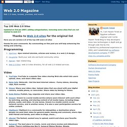 Top 100 Web 2.0 Sites