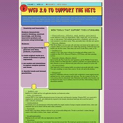 Web 2.0 to support the nets