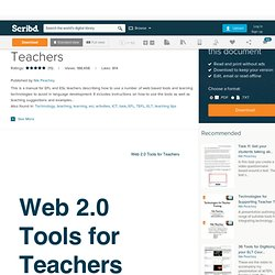 Web 2.0 Tools for Teachers