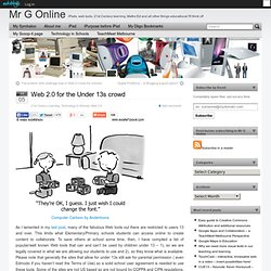 Web 2.0 for the Under 13s crowd