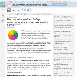 Цвета в web-дизайне: Выбор правильного сочетания для вашего сайта