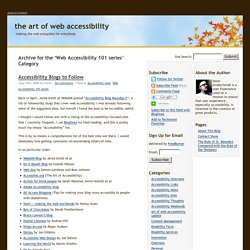 Web Accessibility 101 series