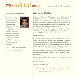 PHP Advent 2010 / Color for the Holidays
