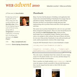 PHP Advent 2010 / Thumbnails