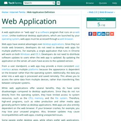 Web Application Definition