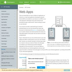 Web Apps Overview