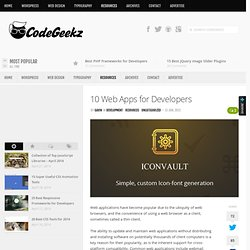 10 Web Apps for Developers