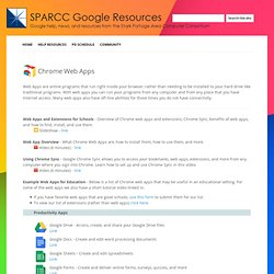 Web Apps - Google Resources
