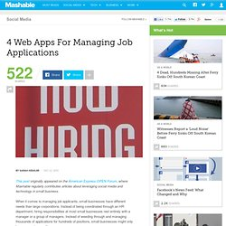 4 Web Apps For Managing Job Applications
