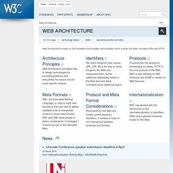 Web Architecture - W3C