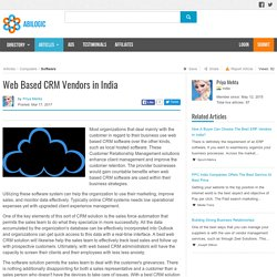 Web Based CRM Vendors in India