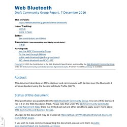 Web Bluetooth