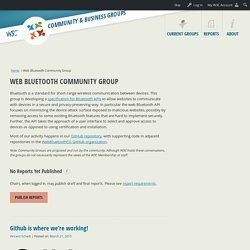 Web Bluetooth Community Group