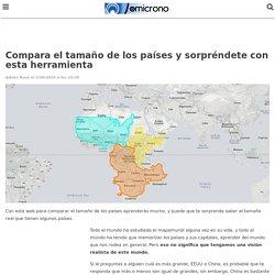La web para comparar el tamaño de los países