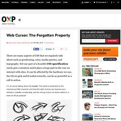 Web Cursor: The Forgotten Property