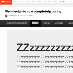 Web design is now completely boring