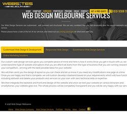 Web Design Melbourne Services