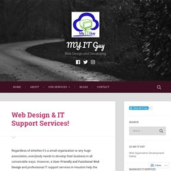 Get Web Design & IT Support Services Texas