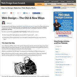 Web Design - The Old Way and The New Way