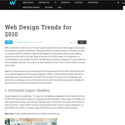 Web Design Trends for 2010 | Tips