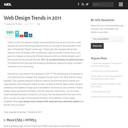 Web Design Trends in 2011