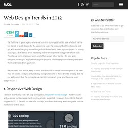 Web Design Trends in 2012