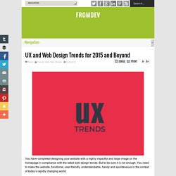 UX and Web Design Trends for 2015 and Beyond