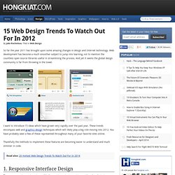 15 Web Design Trends to Watch Out For in 2012