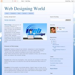 Web Designing World: WEB DESIGN