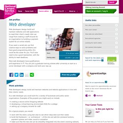 Web developer Job Information