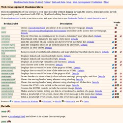 Web Development Bookmarklets
