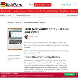 Web Development is Just Cut and Paste