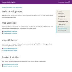 Web development - Visual Studio