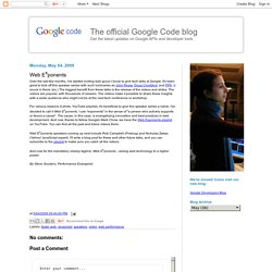 Web E<sup>x</sup>ponents - The official Google Code blog