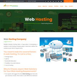 Web Hosting Company In Chennai, Web Hosting In Chennai